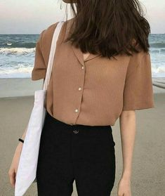 Korean fashion summer casual · image in kfashion collection by ㅇㅈㅇ on we heart it casual korean outfits, korean casual Korean Fashion Trends, Asian Fashion, Look Fashion, Fashion Design, Korean Spring Fashion, Summer Outfits Korean, Korean Casual Outfits, Korean Ootd, Trendy Fashion