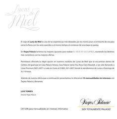 12 meses sin intereses con tarjetas palacio y #Banamex en el #EspecialDeLunasDeMielPalacio