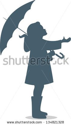 """Find """"silhouette of girl with umbrella"""" stock images in HD and millions of other royalty-free stock photos, illustrations and vectors in the Shutterstock collection. Thousands of new, high-quality pictures added every day. Arte Pallet, Classroom Art Projects, Umbrella Art, Girl Silhouette, Cute Cartoon Wallpapers, Crayon Art, Melting Crayons, Silhouette Cameo Projects, Diy Canvas"""