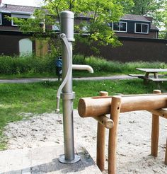 Roestvrij stalen waterpomp (zwengelpomp) voor grondwater - 86600/700 - Klik voor een grotere foto