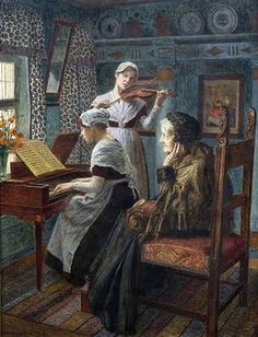 """The Serenade"" -- by Walter Firle (German, 1859–1929)"