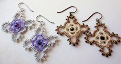 Shuttle Tatting Patterns | This is a one shuttle tatting pattern. The design reminds me of a ...