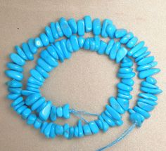 "Sleeping Beauty Turquoise Loose AA Grade Small Pebble Beads Blue 9"" Std # 467 #SleepingBeauty #Southwest"