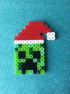 Minecraft Perler Beads Santa Creeper