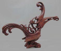 A Borneo Iban Hornbill, kenyalang, effigy