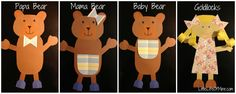 Goldilocks and the three bears art