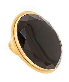 Big Black Onyx Chunk Ring