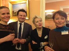 Les cadres catalans de Paris reçus dans les salons de la Questure à l'Assemblée Nationale. Jérôme Pujol, Président et Christiane Bernard-Davin, Assistante parlementaire / janvier 2017