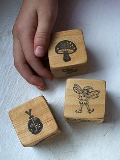 Story telling dice!  What a great idea!