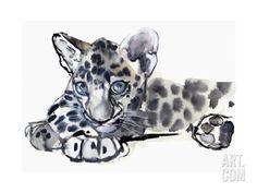 Spotty (Arabian Leopard Cub), 2008 Giclee Print by Mark Adlington at Art.com