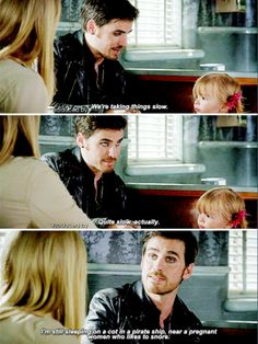"""We're taking things slow. Quite slow, actually"" - Killian, Alexandra and Ashley #OnceUponATime"