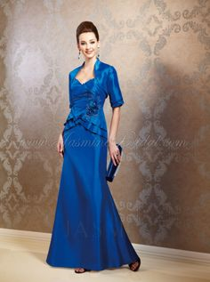 Mirella's Ladies Boutique ~ lux taffeta 2 pc in Cobalt