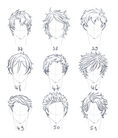 Fantasting Drawing Hairstyles For Characters Ideas. Amazing Drawing Hairstyles For Characters Ideas. Boy Hair Drawing, Drawing Heads, Guy Drawing, Character Drawing, Drawing Sketches, Art Drawings, Anime Hair Drawing, Cartoon Drawings Of People, Drawing People