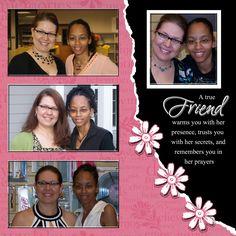 Digital Scrapbook Page Celebrating Friendship