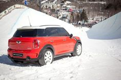 The MINI Countryman Cooper S overlooks the action at this year's Burton U.S. Open of Snowboarding Presented by MINI.