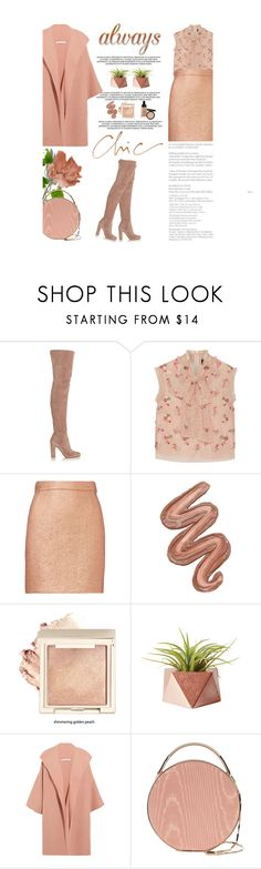 """""""Over The Knee Boots"""" by amimcqueen ❤ liked on Polyvore featuring Gianvito Rossi, Topshop Unique, Carven, Violet Voss, Alice + Olivia, Bobbi Brown Cosmetics and Eddie Borgo"""