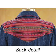 Serape Denim Jacket - Western Wear, Equestrian Inspired Clothing, Jewelry, Home Décor, Gifts