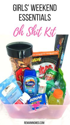 A DIY Hangover Kit AKA Oh Shit Is Must Have For Girls