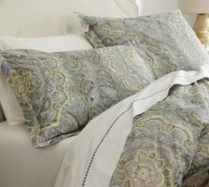 Adriana Organic Duvet Cover - contemporary - duvet covers -  - by Pottery Barn