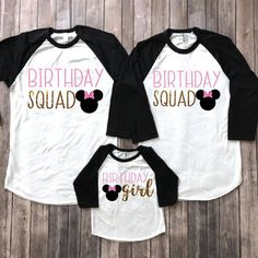 13d3de3ce Minnie mouse squad, minnie mouse birthday shirt, birthday squad, disney  kids shirt, disney birthday , minnie birthday party, minnie squad