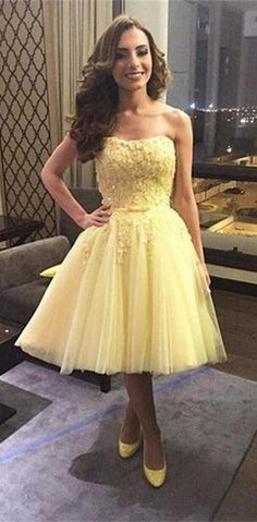 Pretty Homecoming Dress,Tulle Homecoming Dress,Appliques Graduation Dress, Short Prom Dress,Sweetheart prom dress