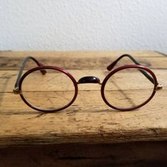 0b71e1baa0 Vintage Unusual Shuron Windsor Zylo Wrapped Eyeglasses Small