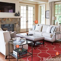 Libby Langdon Family Room Makeover
