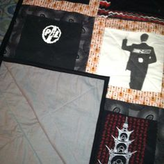 Alternate shot of the finished project.  (Both PIL and Bowie shirts were procured from actual shows.)