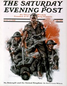 Soldiers in Battle by Julien De Miskey | The Saturday Evening Post  Enter our Tribute to Our Troops contest: https://apps.facebook.com/easypromos/promotions/79941