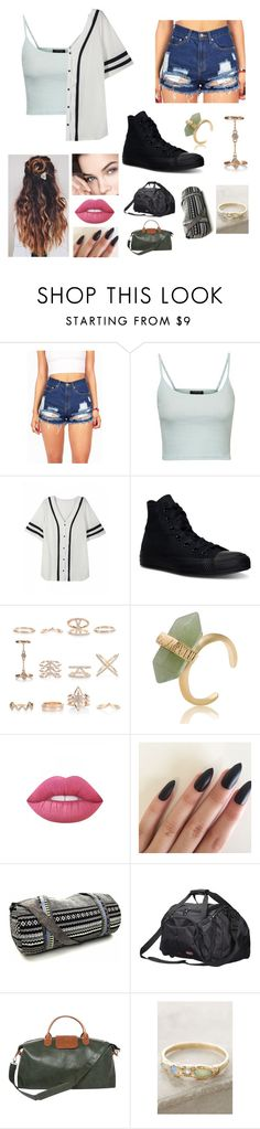 """""""Untitled #86"""" by heresnana on Polyvore featuring Topshop, Converse, New Look, Lime Crime, Brouk & Co. and Misa"""