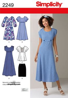 """misses' and plus size dress in two lengths or tunic and skirt. designs by karen z. <br/><br/><img src=""""skins/skin_1/images/icon-printer.gif"""" alt=""""printable pattern"""" /> <a href=""""#"""" onclick=""""toggle_visibility('foo');"""">printable pattern terms of sale</a><div id=""""foo"""" style=""""display:none;"""">digital patterns are tiled and labeled so you can print and assemble in the comfort of your home. plus, digital patterns incur no shipping costs! upon purchasing a digital pattern, you will receive an email…"""