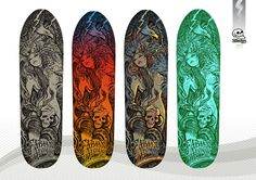 Rough colour concepts - 'La Malinche' - Fabian Alomar signature model skateboard
