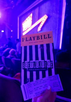 Beetlejuice is one of Greg's favorite childhood movies, so when he heard the show was coming to Broadway he mentioned… over and over again… that he wanted to see it. I picked up o… Broadway Tickets, Musical Tickets, New York Broadway, Musical Theatre Broadway, Broadway Shows, Theater Tickets, Theatre Posters, Maximum Ride, Beetlejuice