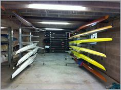 Boat racking for Shrewsbury Rowing Club