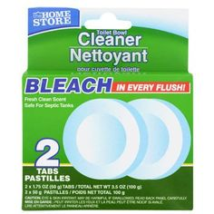 The Home Store Bowl Cleaner Bleach Tabs, 2-ct. Packs