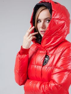 Puffy Jacket, Extreme Weather, Jackets For Women, Winter Jackets, Lady, Womens Fashion, Cowl, Jackets, Cardigan Sweaters For Women