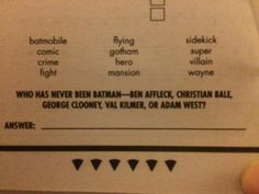 Either this is old or Trivial Pursuit really hated BvS.