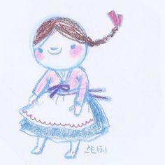 #stich in #hanbok #illust by #jellyjeong #스티치는귀요미#한복입은스티치#디즈니사랑해여와장창#한복입은만화#hanbokillust #drawing #daily #색연필그림#정젤리 #한복일러스트#스티치 #disneyfanart #디즈니팬아트