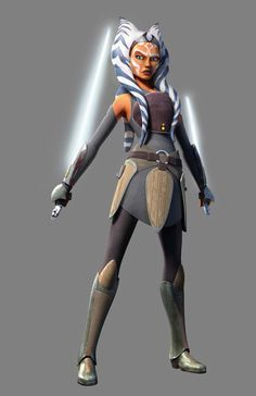 Ahsoka Tano Rebel (Clone wars style) by PACMANFIRE.deviantart.com on @DeviantArt - nice compromise between styles.
