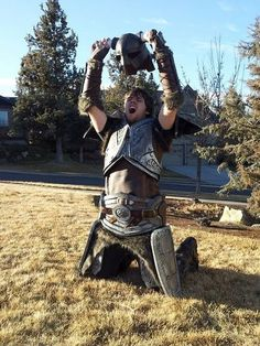 DIY Cosplay Costume Making Tips, Techniques, Materials  - building Skyrim Armor.