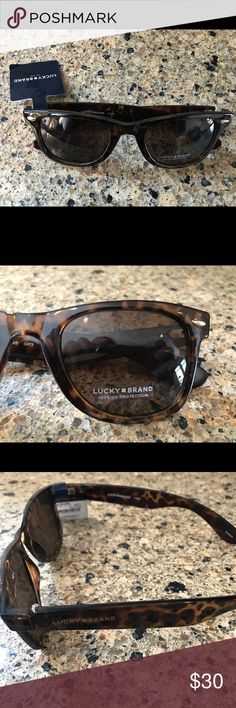 🍀Lucky Brand🍀 Sunglasses 😎 Lucky brand brown tortoises shell sunglasses.  NWT Lucky Brand Accessories Sunglasses