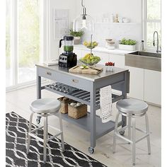 Best Livin Images On Pinterest Apartment Design Apartment - Crate and barrel kitchen island