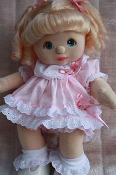 My Child Doll Blonde RP Blue Peach Pink