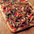 Try the Flatbread with Eggplant, Peppers and Olives Recipe on williams-sonoma.com