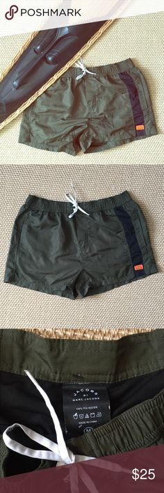 Jacobs by Marc Jacobs Swim Suit Dark green Men's Jacobs by Marc Jacobs Swim Suit. The army green color giving them a retro military feel. In great condition. Marc Jacobs Swim Swim Trunks