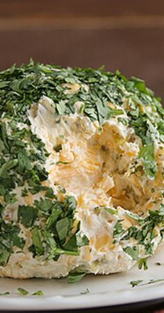 Southwestern Cheeseball - would use chopped green onion or parsley on outside - not a fan of cilantro