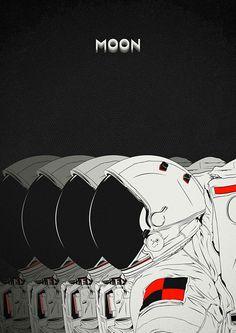 ianbrooks:  Moon by CranioDsgn  Artist:Behance/ Tumblr/ Website