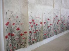 Efimera. Mural pintado a mano. Hand-painted wallpaper.