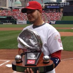 Gold and platinum glove. Not only best catcher in the NL but also best defensive player overall. yeah buddy. love yadi!