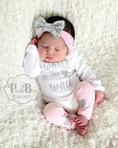 Dormitorio Bebe · Moda Infantil · Baby girl take home outfit - choose  wording from option menu. ♥ Available as a 4b847d808a26
